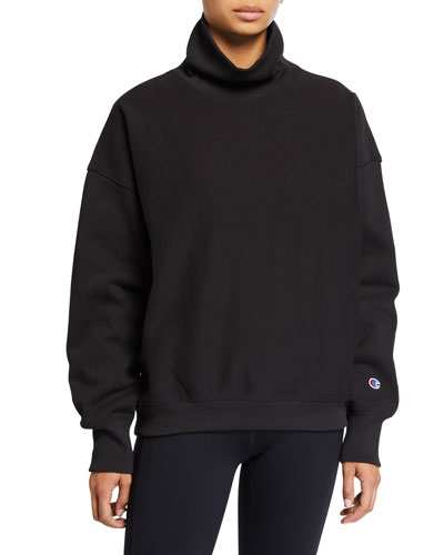 Sleeve Logo High-Neck Sweatshirt