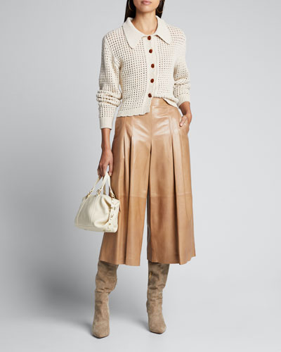 Andrea Collared Button-Front Sweater