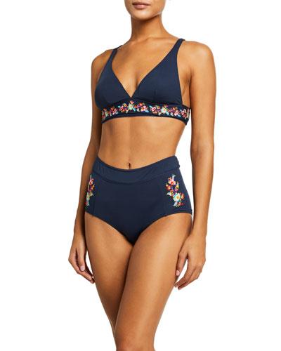 Golda Triangle Swim Top