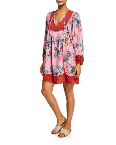 Malakye Long-Sleeve Coverup Dress