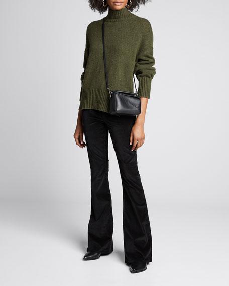 Side Slit Turtleneck Sweater by Frame