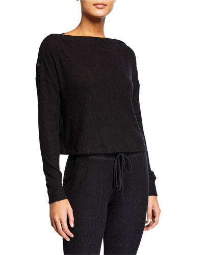 Your Line Buttoned Boxy Pullover