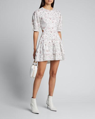 Haisly Floral-Print Mini Dress