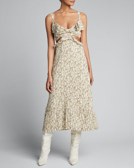 Alba Cut-Out Smocked Dress