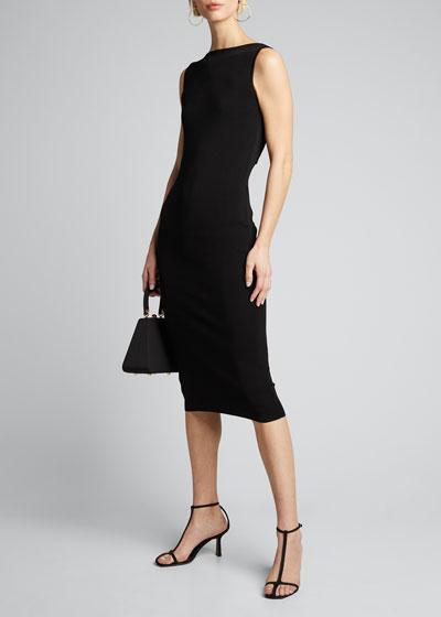 Lausanne Cutout-Back Sleeveless Midi Dress
