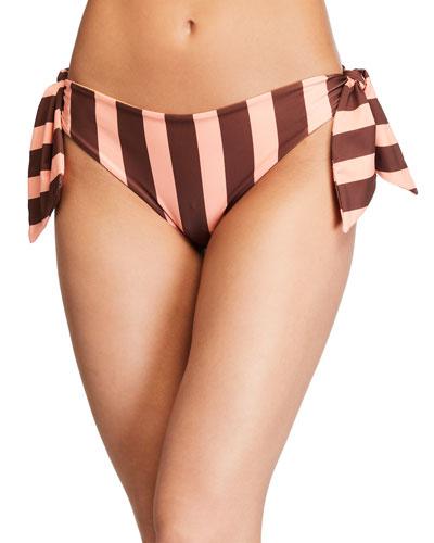 Kilele Striped Side-Tie Bikini Bottom