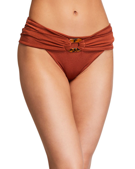 Profundidad Marina Belted Bikini Bottom