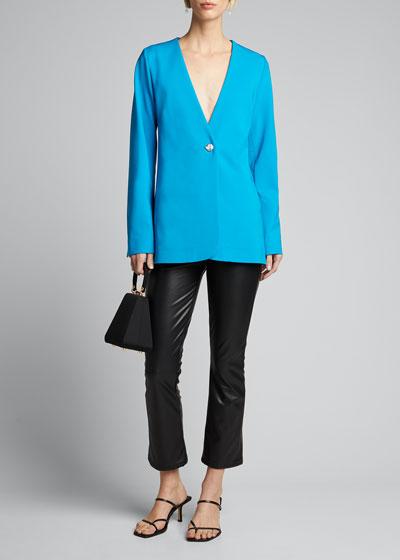 Dakota Collarless Single-Button Jacket