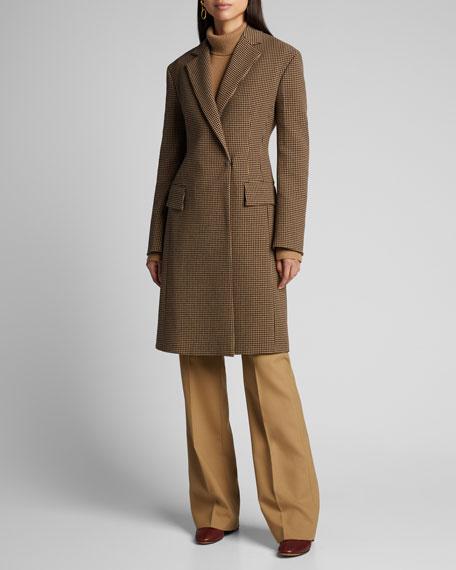 Arton Houndstooth One-Button Coat