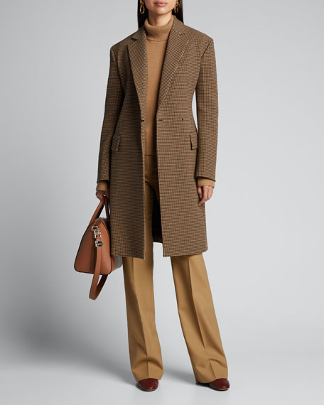 Image 1 of 1: Arton Houndstooth One-Button Coat