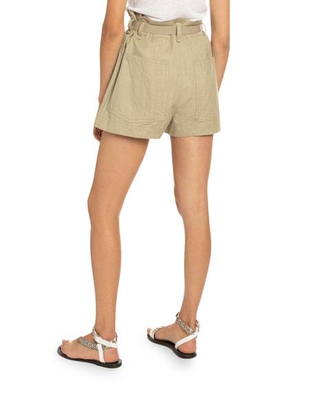 Rike Belted Khaki Shorts