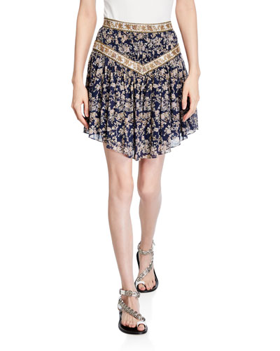 Valerie Floral Patchwork Skirt