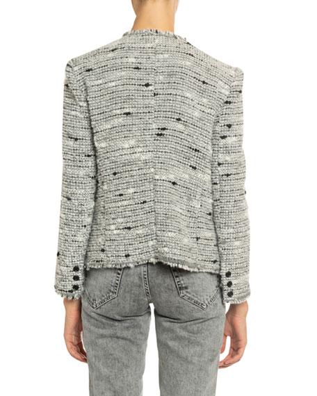 Jorson Shawl-Collar Tweed Jacket