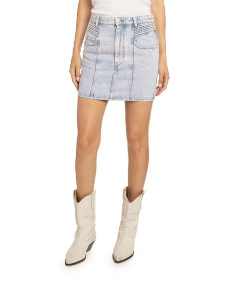 Hondo Acid-Washed Denim Skirt