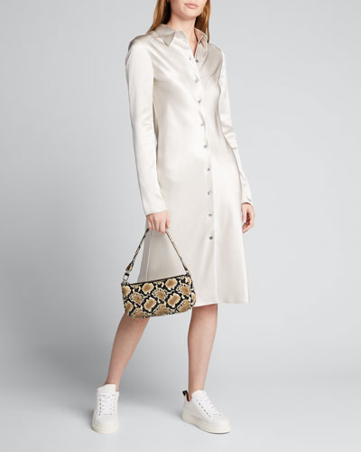Calum Satin Double Face Shirtdress