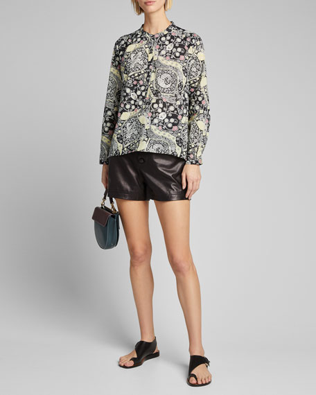Image 1 of 1: Maria Printed Button-Down Shirt