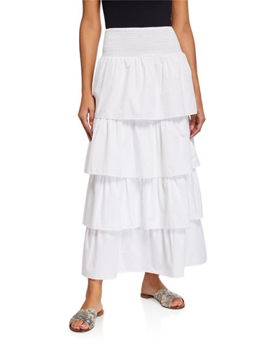 Paloma Tiered Long Coverup Skirt