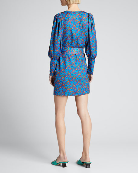 Frankie Floral Long-Sleeve Wrap Dress
