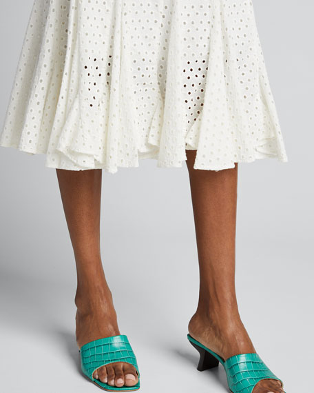 Sienna Eyelet Fit-&-Flare Skirt