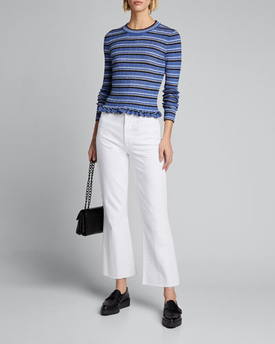 Lilika Striped Ruffle Sweater