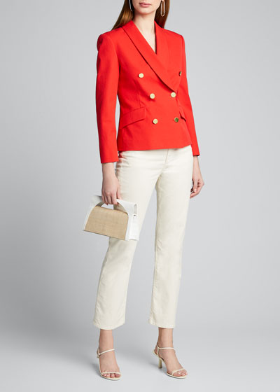 Myra Cropped Double-Breasted Blazer