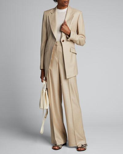 Virginia Studio Suiting One-Button Blazer