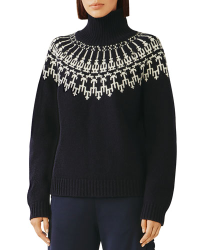 Fair Isle Wool Turtleneck Sweater