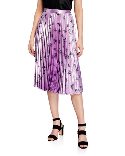 Tracy Pleated Butterfly Midi Skirt