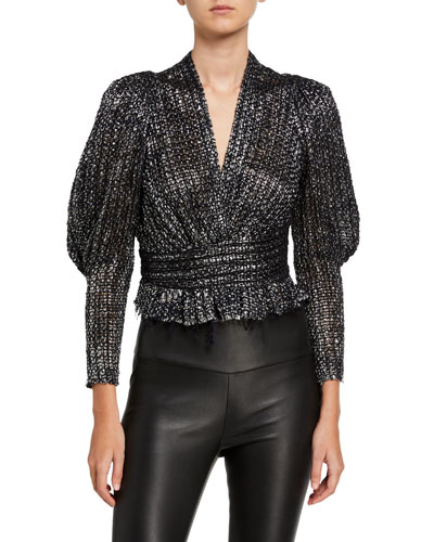 Guarda Metallic Tweed Blouse
