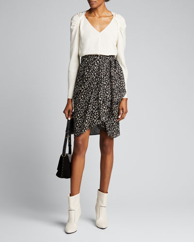 Fallon Printed Wrap Skirt