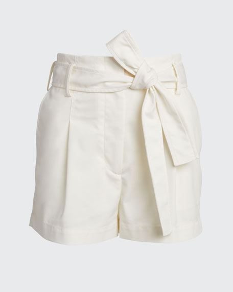 Belted High-Waist Shorts