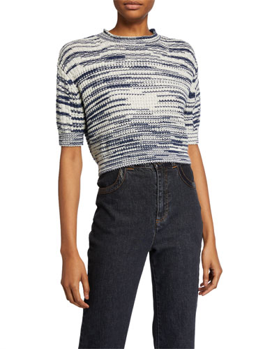 Cropped Wool-Blend Pullover