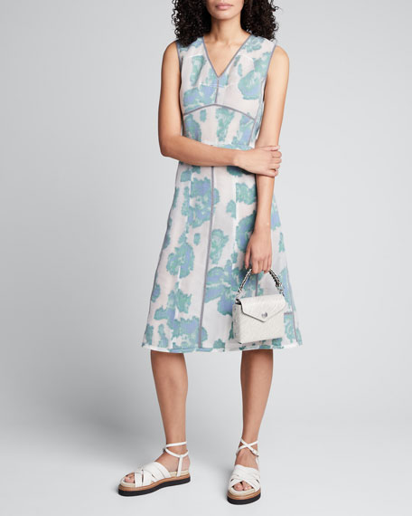 Image 1 of 1: Abstract Daisy Fil Coupe Midi Dress
