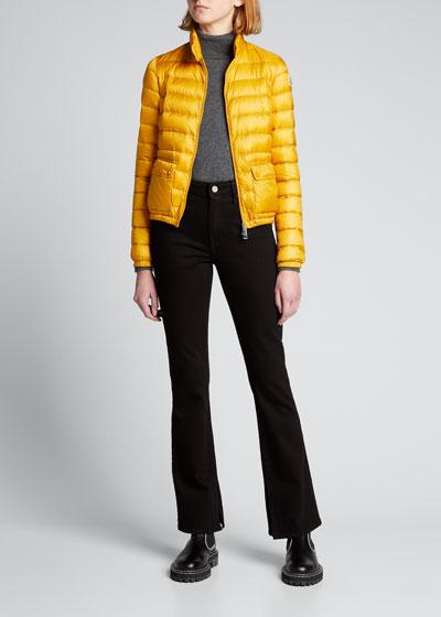 Lans Channel-Quilt Puffer Coat