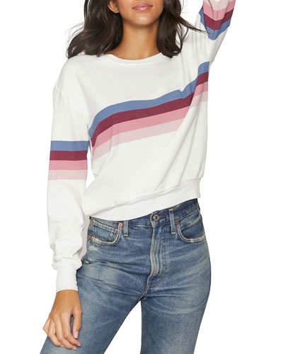 Savasana Striped Crewneck Sweatshirt