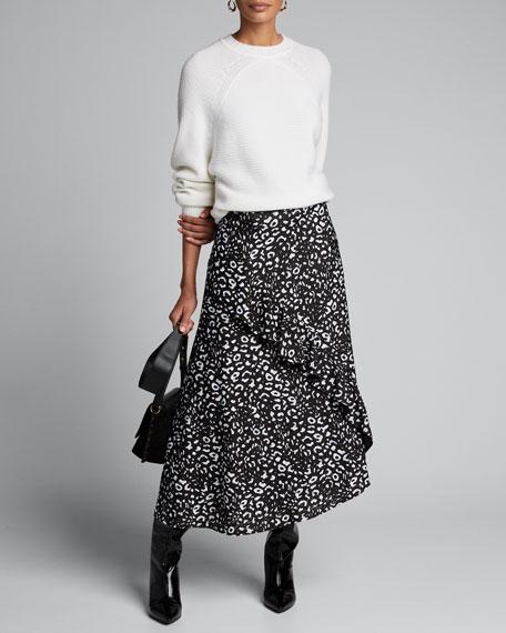 Poppy Ruffle-Front Asymmetric Skirt