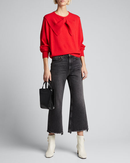 The Rider Flare-Leg Cropped Jeans