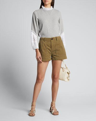 Adalene Gabardine Shorts