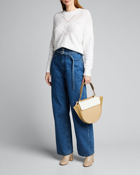 Image 1 of 1: High-Rise Paperbag Jeans