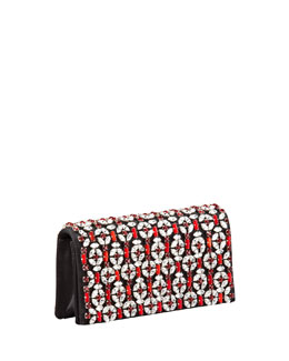 Prada Raso Jeweled Clutch