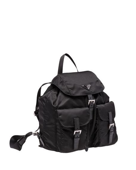 Vela Large Two-Pocket Backpack, Black (Nero)
