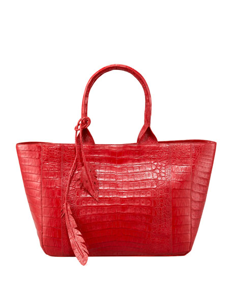 Crocodile Leaf Tote, East-West
