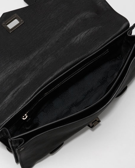 PS1 Leather Pochette, Black