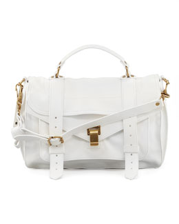 Proenza Schouler PS1 Medium Satchel Bag, White
