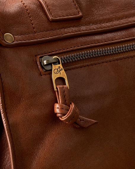 PS1 Medium Satchel Bag, Saddle