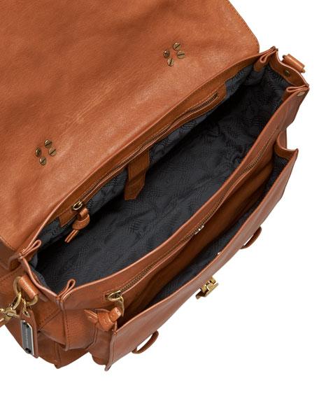PS1 Large Satchel Bag, Saddle