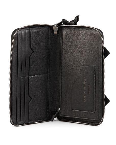 PS1 Large Zip Wallet, Black