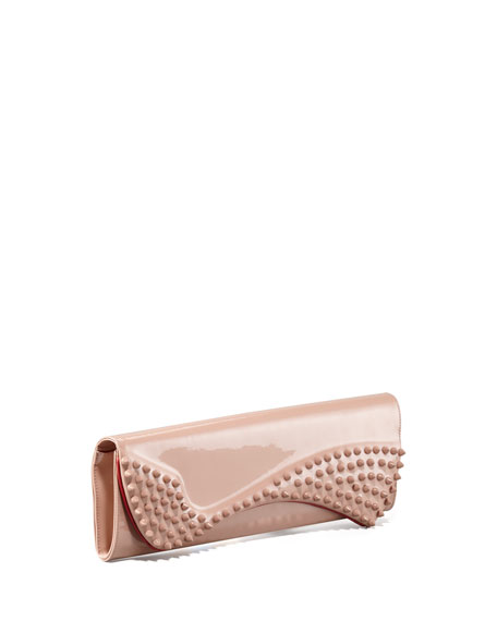 Pigalle Patent Spike Clutch Bag