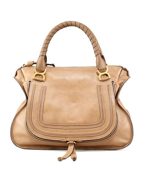 7cead25b Marcie Large Leather Satchel Bag Nut