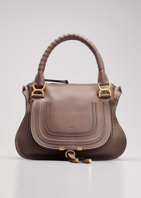 Chloe Marcie Medium Satchel Bag, Nut